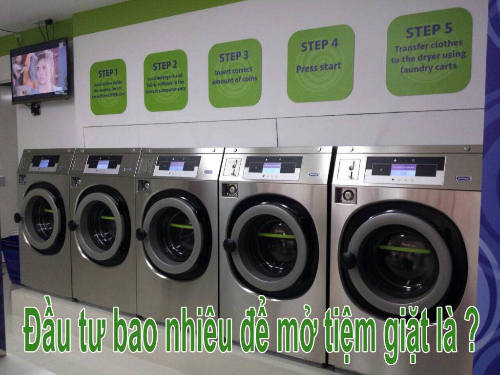 Cần nguồn vốn đầu tư bao nhiêu cho tiệm giặt là