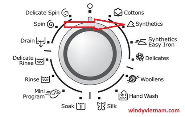 Từ Synthetics trong máy giặt là gì ? Chức năng của nó để làm gì ?