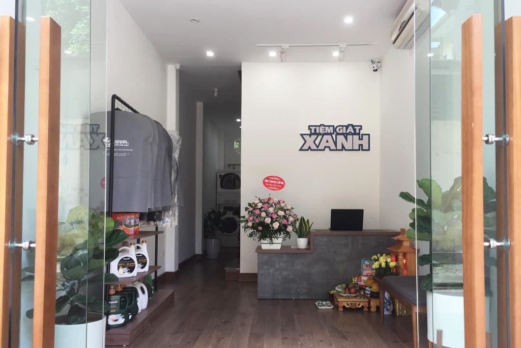 Dự án lắp đặt hệ thống tiệm giặt là Tiệm Giặt Xanh